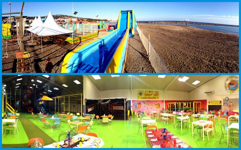parc de jeux pour enfants, aire de loisirs intérieur extérieur hérault